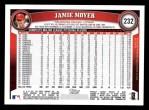 2011 Topps #232  Jamie Moyer  Back Thumbnail