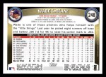 2011 Topps #248  Wade LeBlanc  Back Thumbnail
