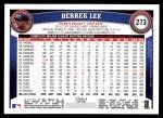 2011 Topps #273  Derrek Lee  Back Thumbnail