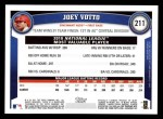 2011 Topps #211   -  Joey Votto Most Valuable Player Back Thumbnail