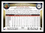 2011 Topps #221  Scott Hairston  Back Thumbnail