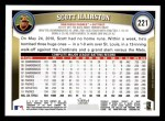 2011 Topps #221  Scott Hairston  Back Thumbnail