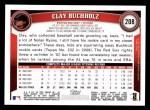 2011 Topps #208  Clay Buchholz  Back Thumbnail