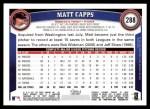 2011 Topps #288  Matt Capps  Back Thumbnail