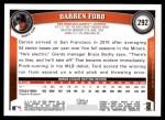 2011 Topps #292  Darren Ford  Back Thumbnail