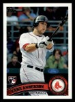 2011 Topps #254  Lars Anderson  Front Thumbnail