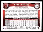 2011 Topps #234  Miguel Montero  Back Thumbnail