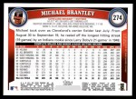 2011 Topps #274  Michael Brantley  Back Thumbnail