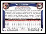 2011 Topps #281  Kevin Slowey  Back Thumbnail