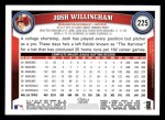 2011 Topps #225  Josh Willingham  Back Thumbnail