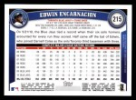 2011 Topps #215  Edwin Encarnacion  Back Thumbnail