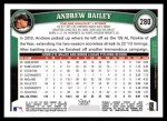 2011 Topps #280  Andrew Bailey  Back Thumbnail