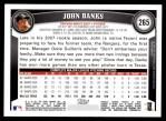 2011 Topps #265  John Danks  Back Thumbnail