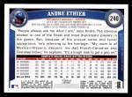 2011 Topps #240  Andre Ethier  Back Thumbnail
