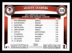 2011 Topps #235   -  Felix Hernandez / Clay Buccholz / David Price AL ERA League Leaders Back Thumbnail