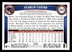 2011 Topps #247  Starlin Castro  Back Thumbnail