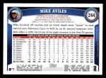2011 Topps #244  Mike Aviles  Back Thumbnail