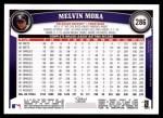 2011 Topps #286  Melvin Mora  Back Thumbnail