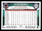 2011 Topps #224  Milton Bradley  Back Thumbnail