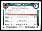 2011 Topps #237  Jason Vargas  Back Thumbnail