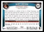 2011 Topps #287  Scott Cousins  Back Thumbnail