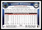 2011 Topps #289  Yuniesky Betancourt  Back Thumbnail