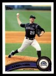 2011 Topps #230  Aaron Cook  Front Thumbnail