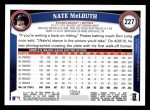 2011 Topps #227  Nate McLouth  Back Thumbnail