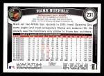 2011 Topps #231  Mark Buerhle  Back Thumbnail