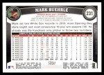 2011 Topps #231  Mark Buerhle  Back Thumbnail
