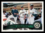 2011 Topps #204   Athletics Team Front Thumbnail