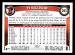 2011 Topps #205  Ty Wigginton  Back Thumbnail