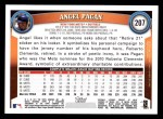 2011 Topps #207  Angel Pagan  Back Thumbnail