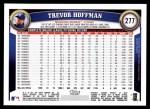 2011 Topps #277  Trevor Hoffman  Back Thumbnail