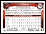 2011 Topps #298  Jeff Keppinger  Back Thumbnail
