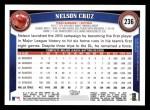 2011 Topps #236  Nelson Cruz  Back Thumbnail