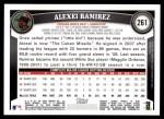 2011 Topps #261  Alexei Ramirez  Back Thumbnail