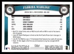 2011 Topps #361   Marlins Team Back Thumbnail
