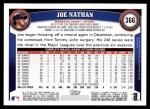 2011 Topps #366  Joe Nathan  Back Thumbnail