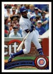2011 Topps #356  Alfonso Soriano  Front Thumbnail