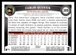2011 Topps #389  Carlos Quentin  Back Thumbnail