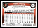 2011 Topps #363  Aaron Rowand  Back Thumbnail