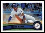 2011 Topps #375  Matt Kemp  Front Thumbnail