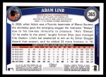 2011 Topps #365  Adam Lind  Back Thumbnail