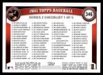 2011 Topps #346  Jose Bautista  Back Thumbnail