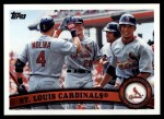 2011 Topps #334   Cardinals Team Front Thumbnail