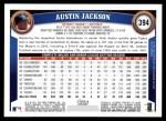 2011 Topps #394  Austin Jackson  Back Thumbnail