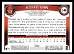 2011 Topps #344  Michael Kohn  Back Thumbnail