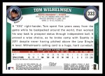 2011 Topps #333  Tom Wilhelmsen  Back Thumbnail