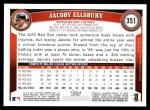 2011 Topps #351  Jacoby Ellsbury  Back Thumbnail